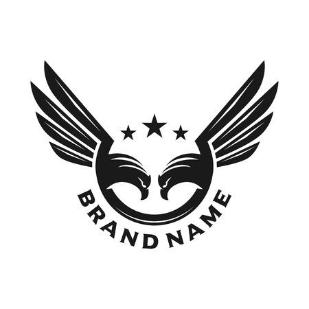 das Logo von zwei Adlern Ihrer Firma Logo