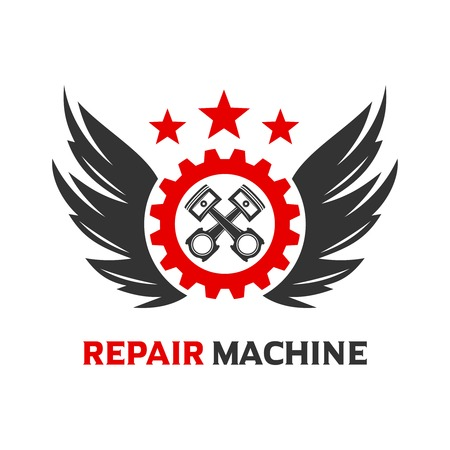 wing logo and engine piston your company
