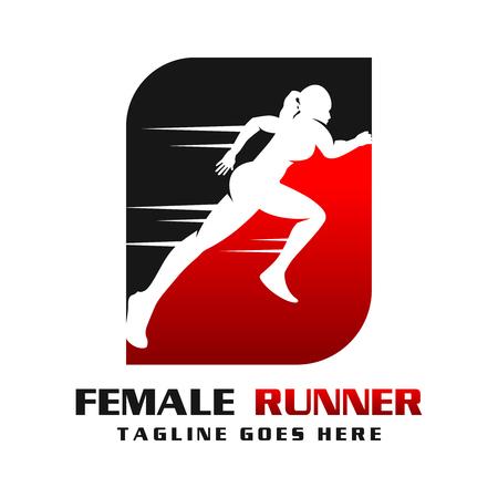 women's runner logo your company Illustration