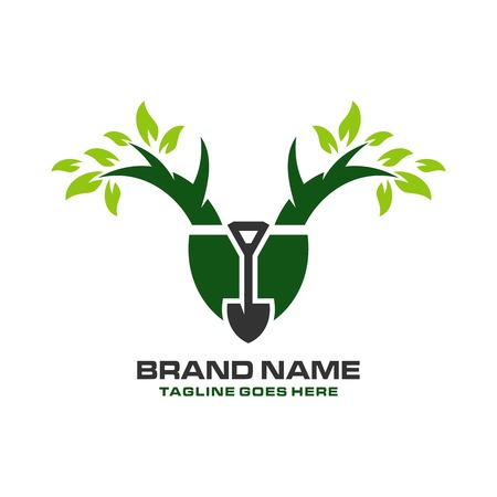 tree planting logo your company Vectores