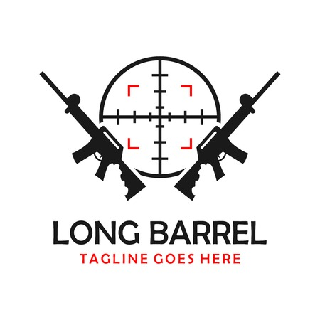 long shotgun logo your company Ilustrace