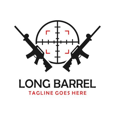 long shotgun logo your company Illustration