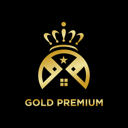 gold premium home logo your company