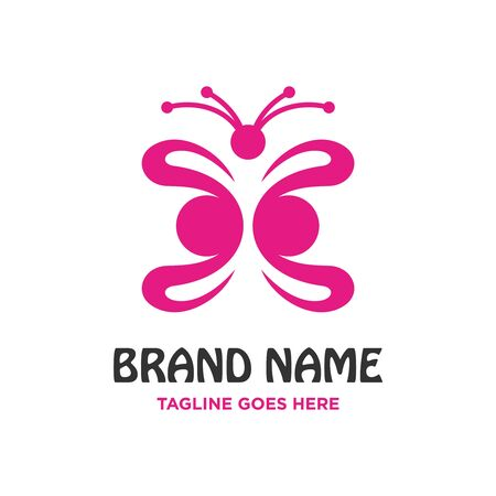 butterfly logo four your company Stock Illustratie