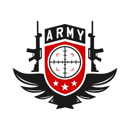 army weapons logo your company Illustration