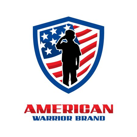American Army Shield logo your company Stock Illustratie