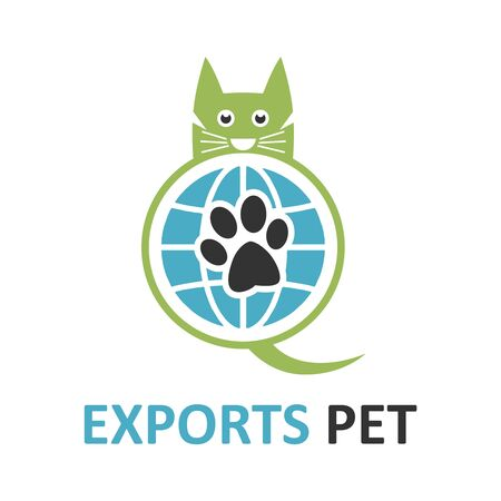 pet export logo your company Stock Illustratie