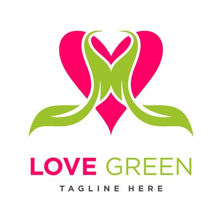 green leaf love logo your company