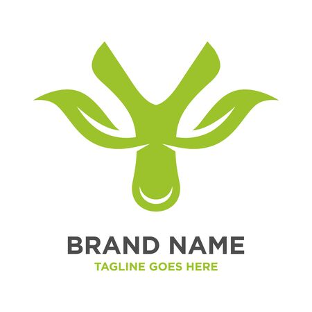 green leaf logo initials Y your company Stock Illustratie