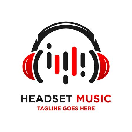music headset logo your company