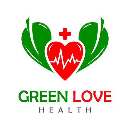 green love health logo your company Stock Illustratie