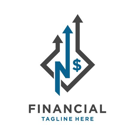 initial logo N financial your company