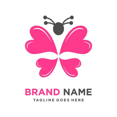 butterfly love logo your company Stock Illustratie