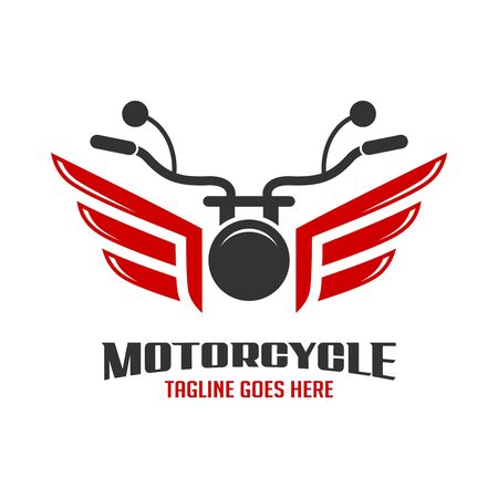 motorcycle and wing logo your company