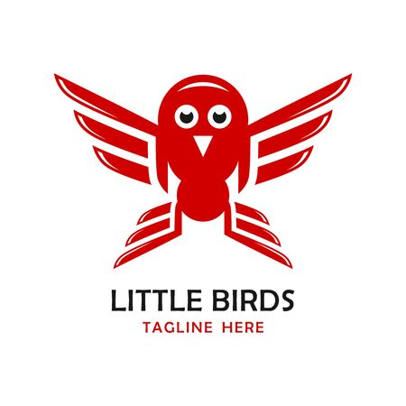 little birds logo four your company Stockfoto - 131536528