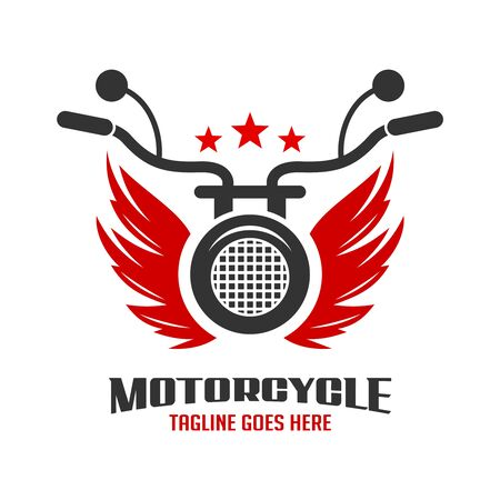 wing and motorbike logo your company Stock Illustratie