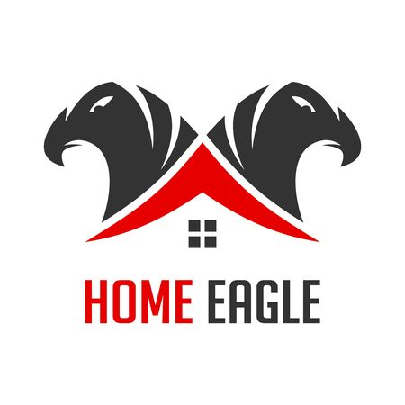 logo of two eagle heads and houses