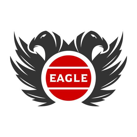 the logo of two eagle heads your company Stock Illustratie
