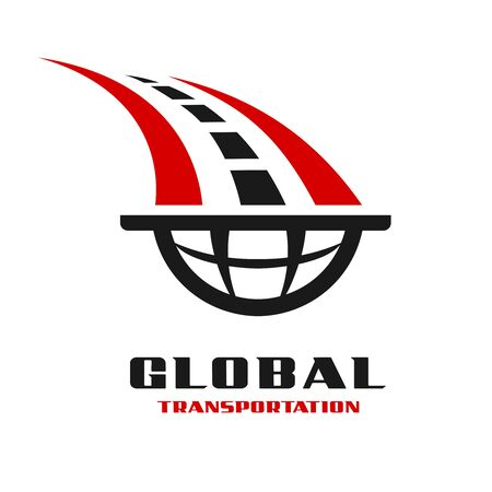 global transportation logo your company Stock Illustratie