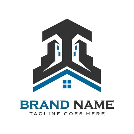 home and building logos your company Stock Illustratie