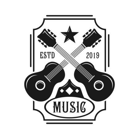 guitar emblem logo your company