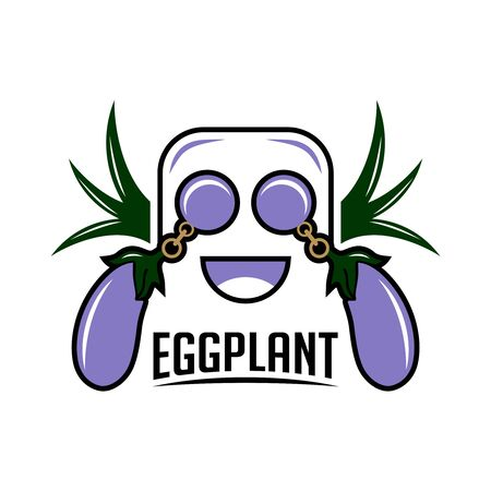 eggplant mascot logo your company Stock Illustratie