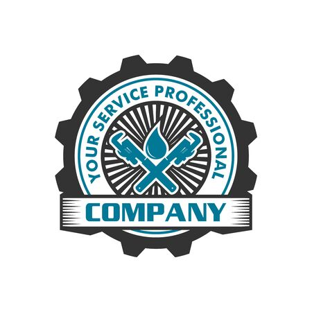 water pipe repair logo your company Stock Illustratie