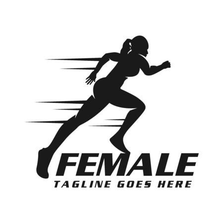 womens runner logo your company