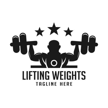 The logo lifts the barbell your company