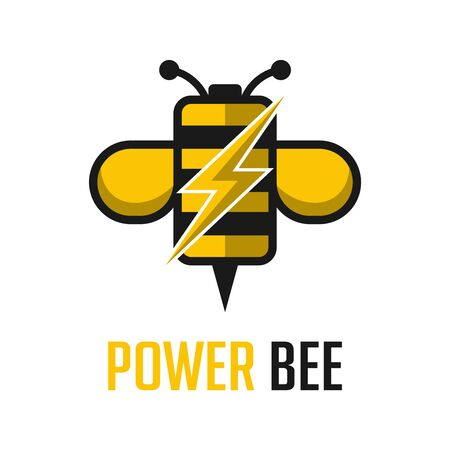 power bee logo your company Illustration