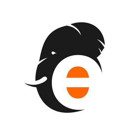 initial elephant logo e your company