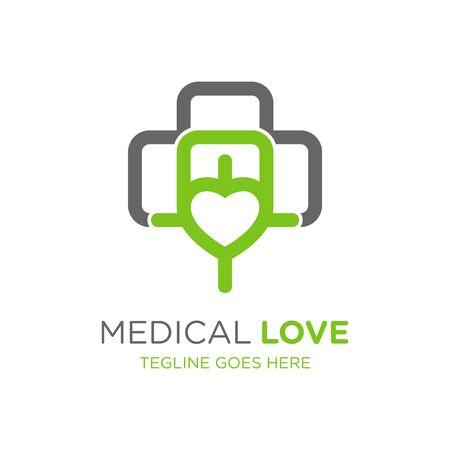 health symbol logo love design