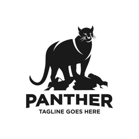 black panther logo design template