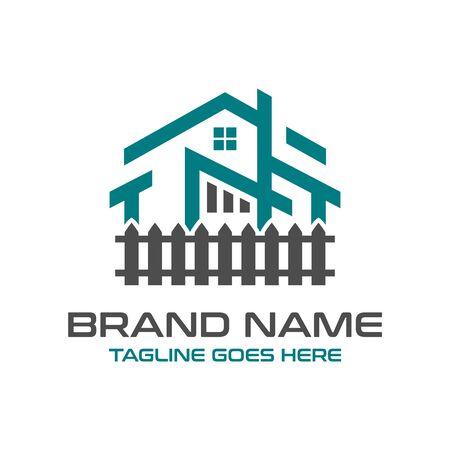 Home-Logo-Design und Hecken