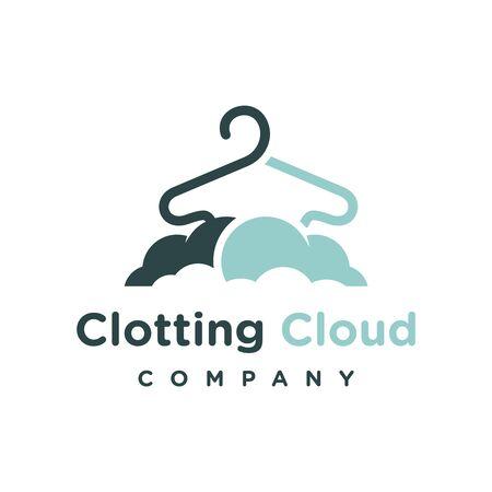clothing cloud logo design template