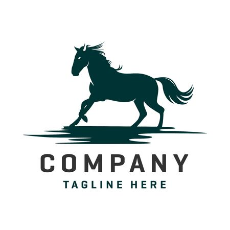 Horse and Pegasus logo design template