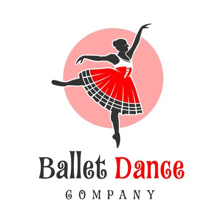 logo design of people dancing ballet