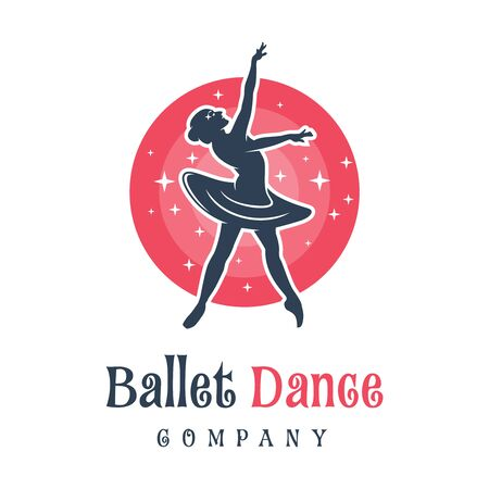 logo design of people dancing ballet