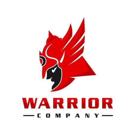 Sparkling Warrior people's logo design 일러스트