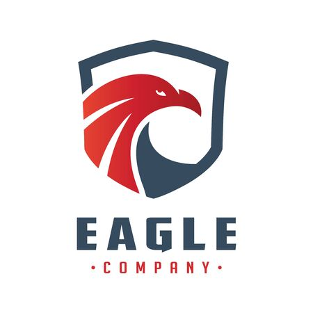 eagle head shield logo design