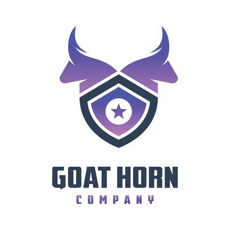 Goat head shield logo design your company