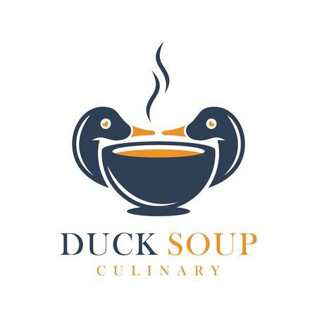 Duck soup food logo design