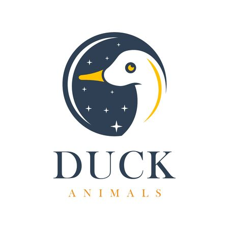 duck and circle logo design