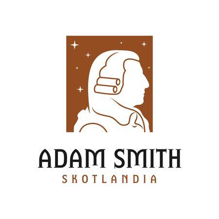 adam smith head logo design