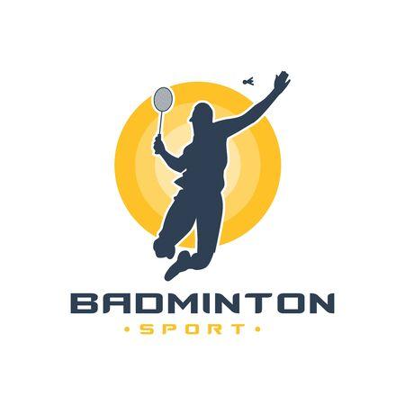 Men's badminton sports logo design