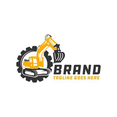 Excavator tool repair logo design