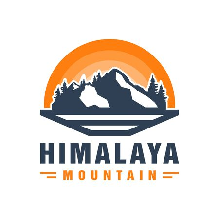 Himalayan mountain vector logo design