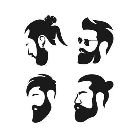 logo design of men's hair salon