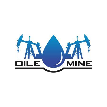 logo design of the petroleum mining industry