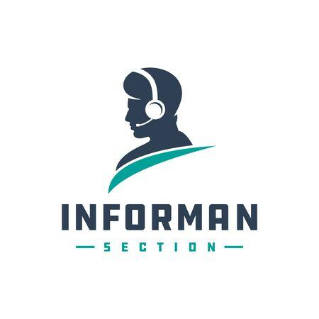 modern logo designs that provide information in public places Stock Illustratie